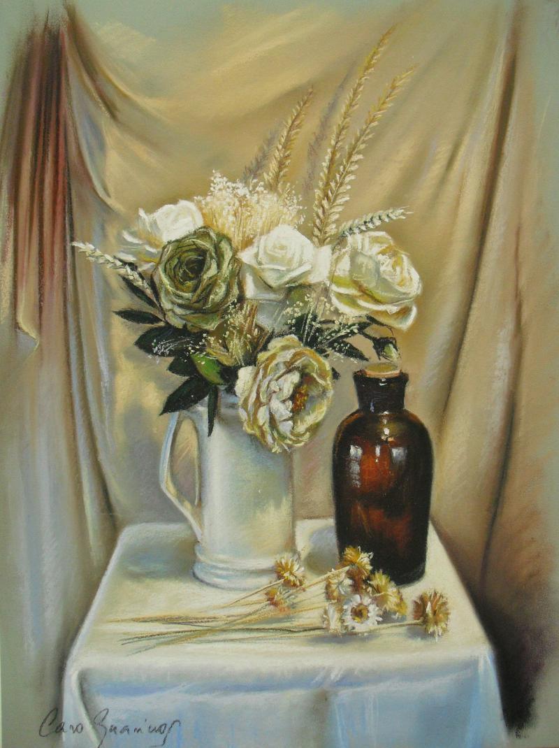Bodegon rosas blancas - caroguarinos.com